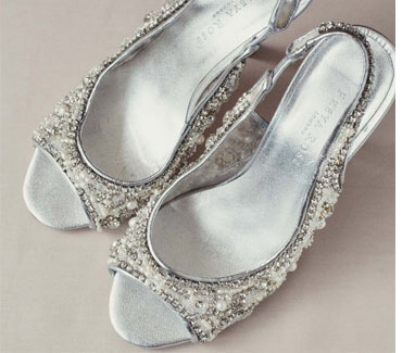 Silver Sparkling Wedding Shoes